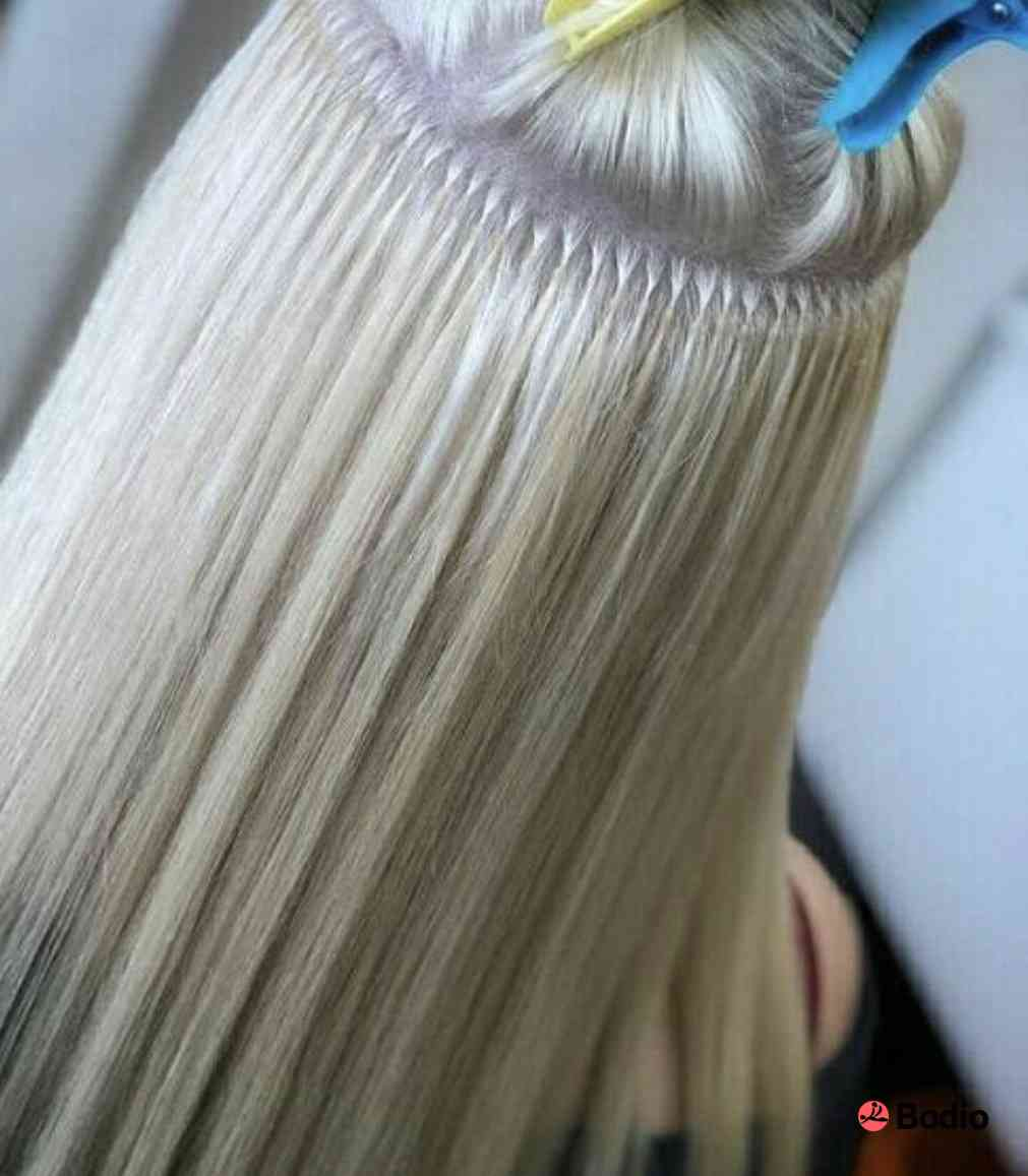 наращивание волос капсулами картинки оскал